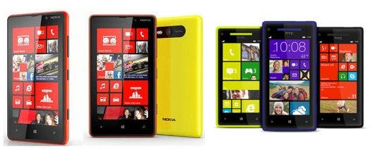 windows phone 8 - nokia vs htc