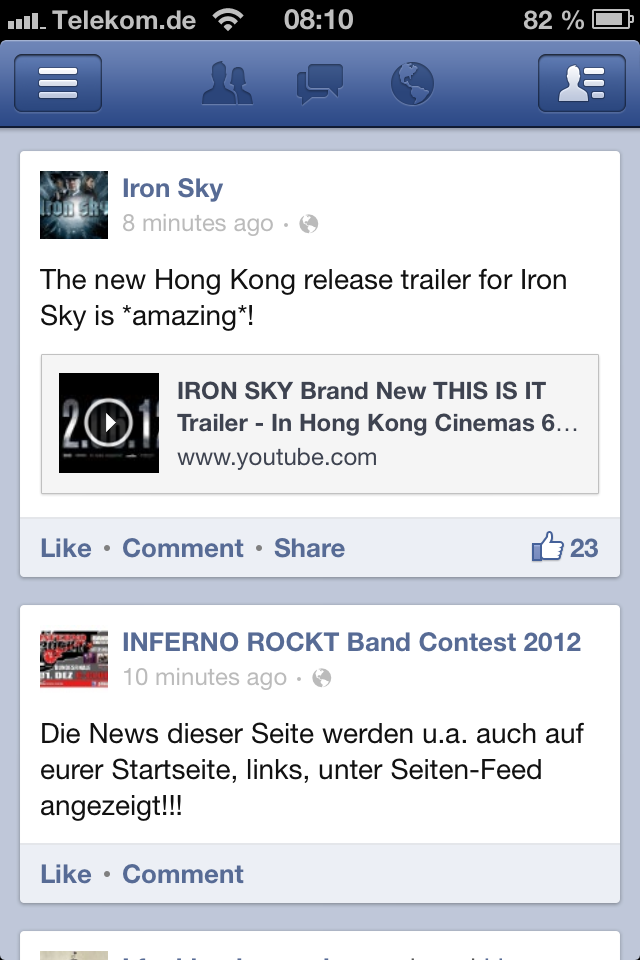 Facebook App Update iOS iPod touch iPhone iPad - 01