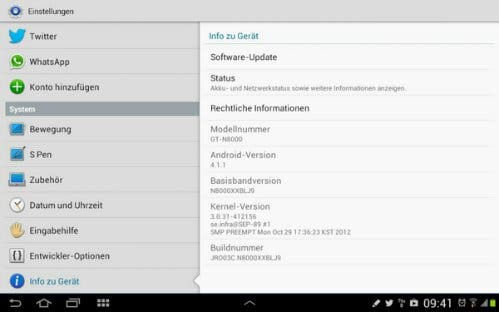 Galaxy Note 10.1 Update auf Android 4.2
