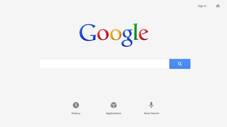 Google Search for Windows RT - 01