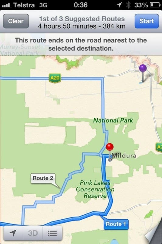 Apple Maps Australien Mildura