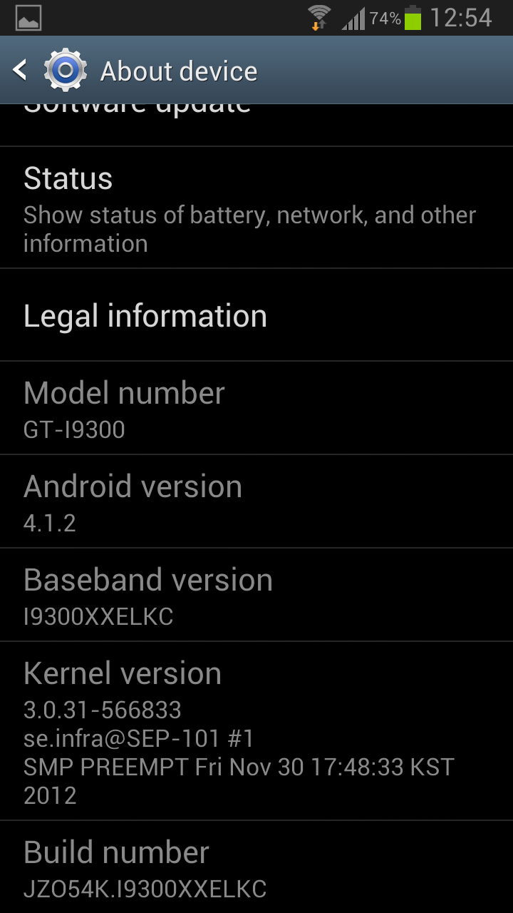 Samsung Galaxy S3 Screenshot Android 4.1.2 30