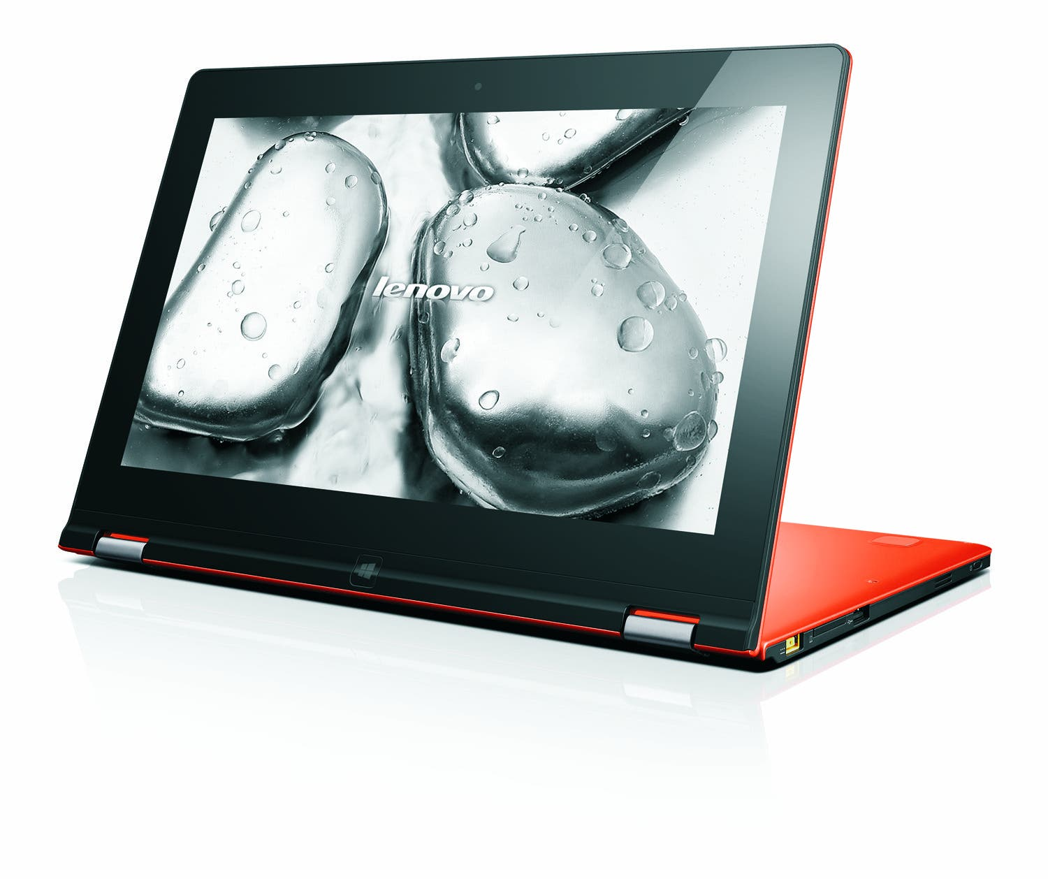 Ideapad Yoga 11s_Clementine Orange_Hero_06_RIVER Wallpaper