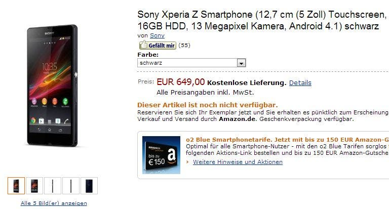 Sony Xperia Z Amazon