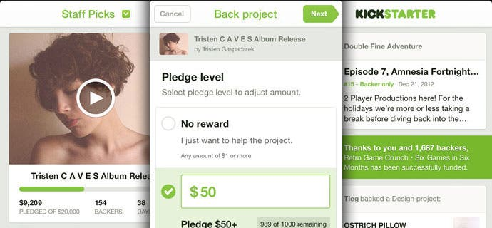 Kickstarter fuer iPhone