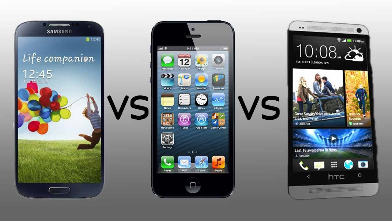Samsung Galaxy S4 vs Apple iPhone 5 vs HTC One
