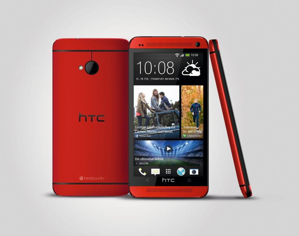 HTC One red 3V