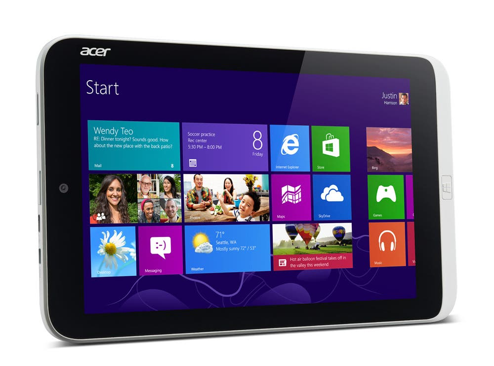 Computex: Acer Iconia W3 8.1inch Intel-Tablet mit Windows 8 kommt ab 329 Euro