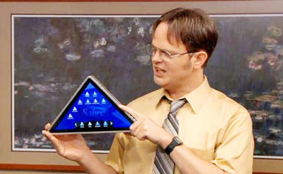 Triangle-tablet