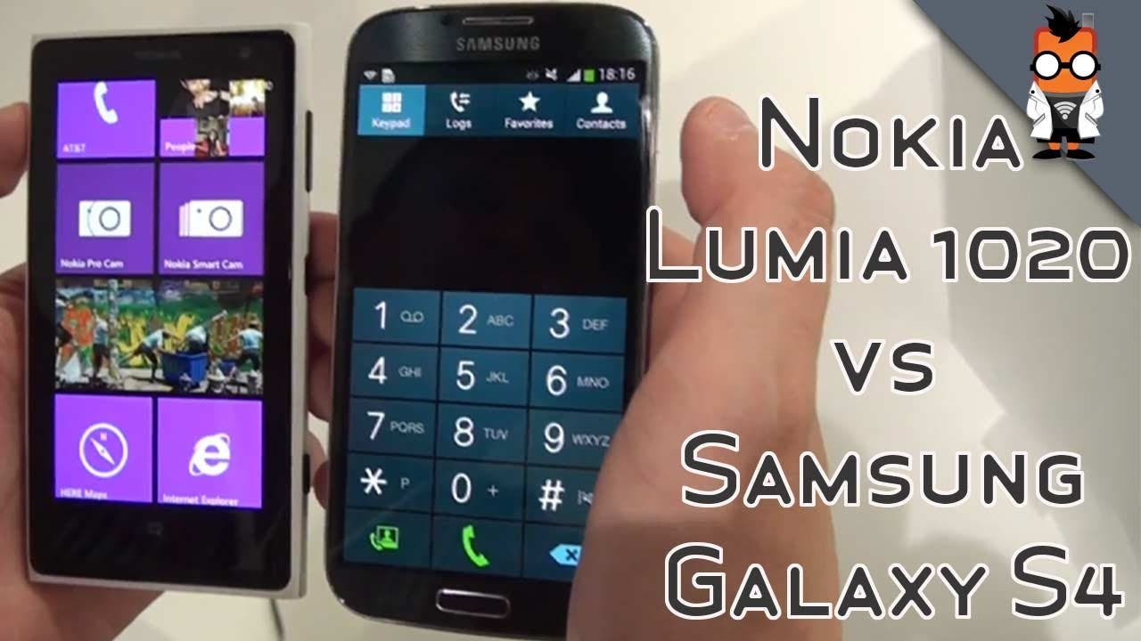 Nokia Lumia 1020 vs Samsung Galaxy S4