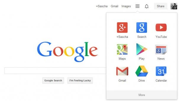 New Google Interface 2