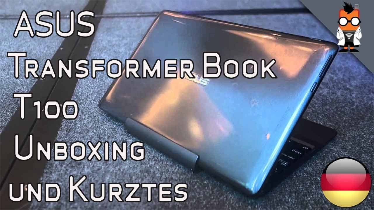 ASUS Transformer Book T100 im Unboxing- und Kurztest-Video
