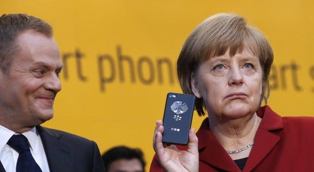 Merkel Blackberry