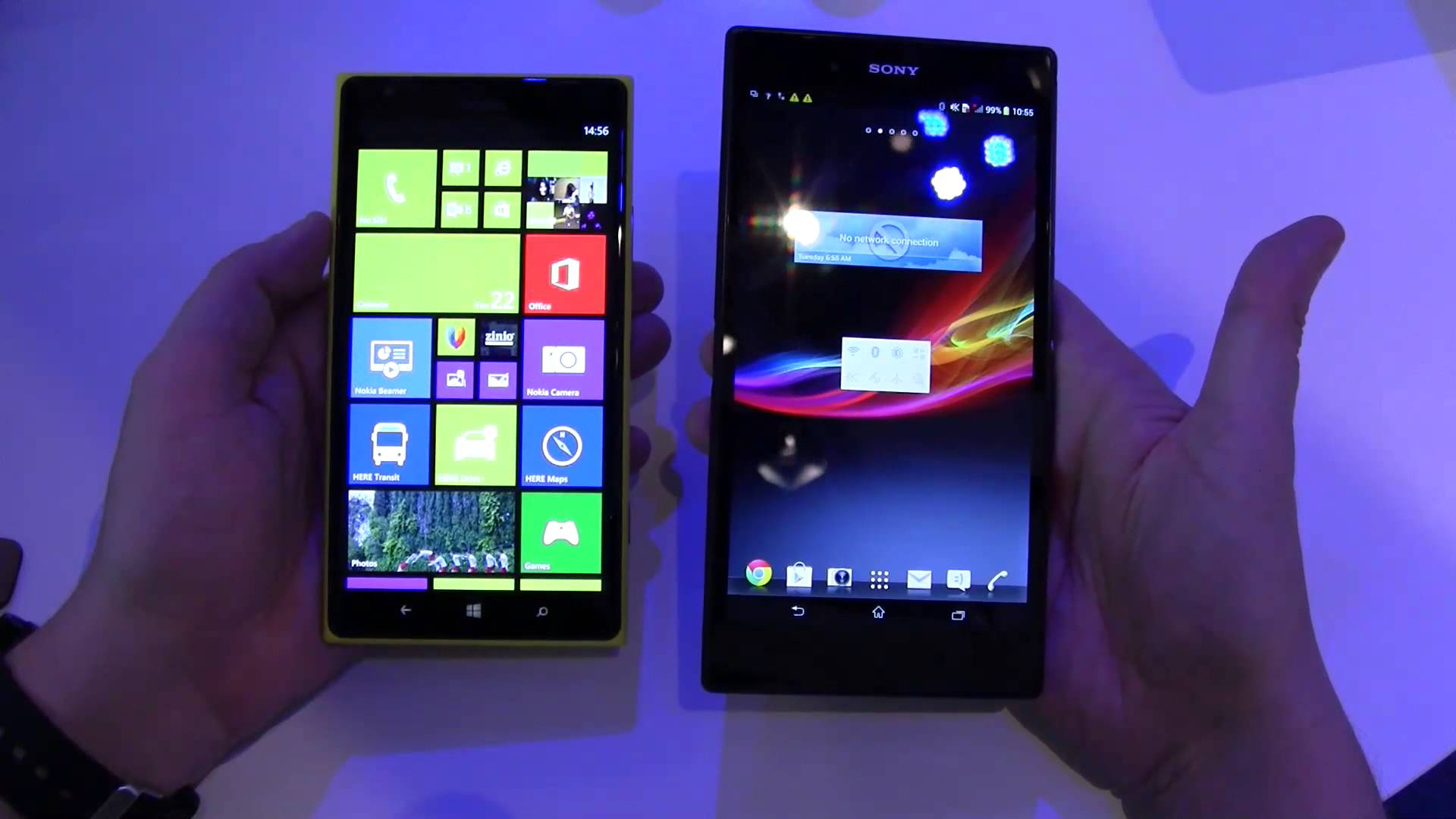Nokia Lumia 1520 vs Sony Xperia Z Ultra