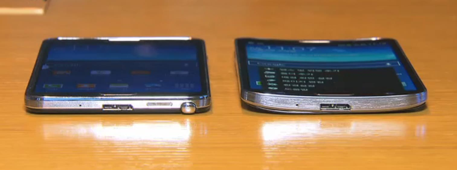 Video: Samsung Galaxy Round & Samsung Galaxy Note 3 im Vergleich