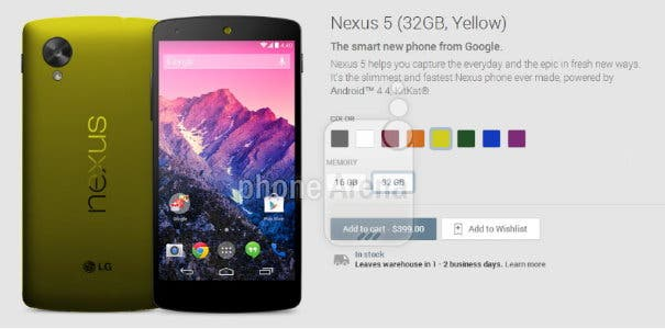 Nexus 5 Green Title