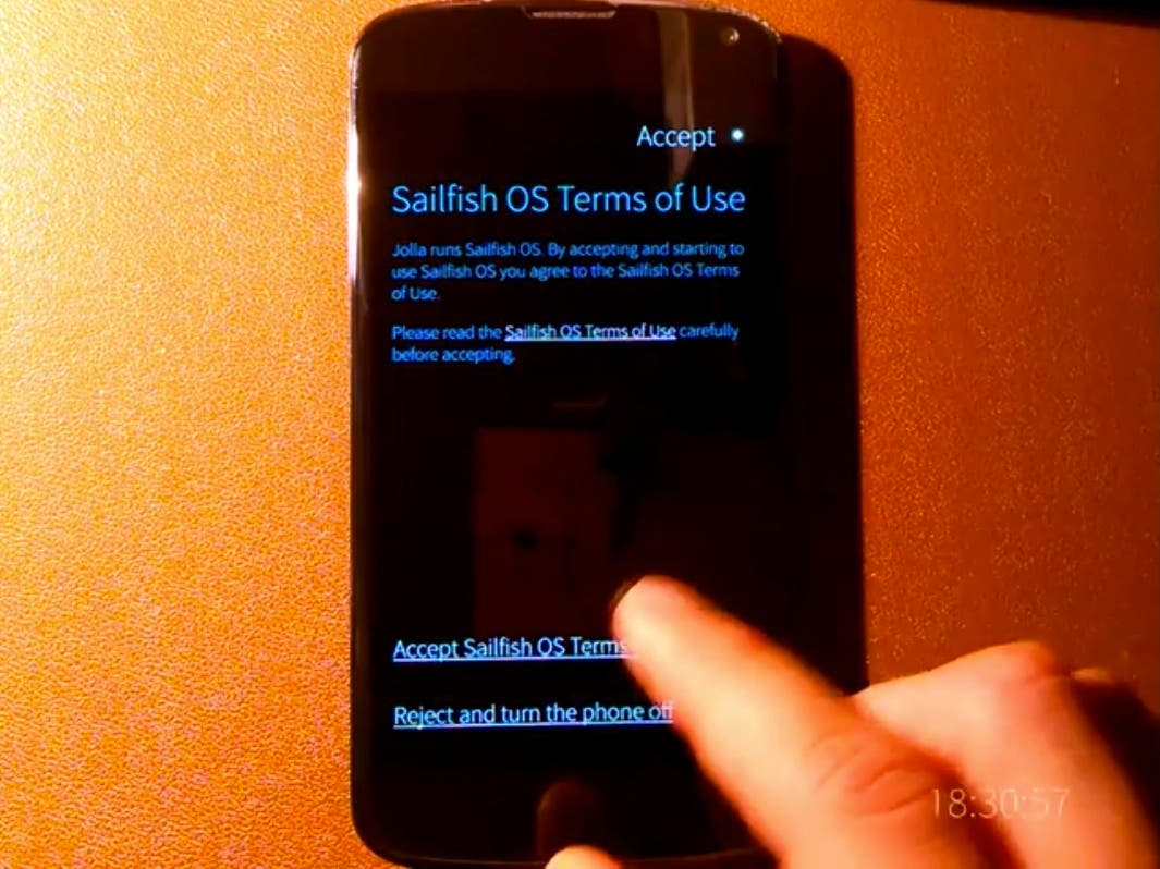 Sailfish OS auf Google Nexus 4