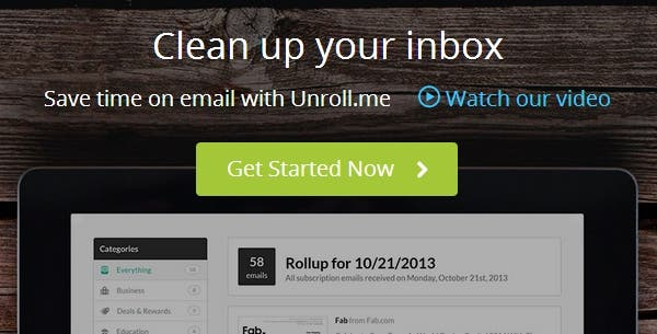 Unroll me - Spam