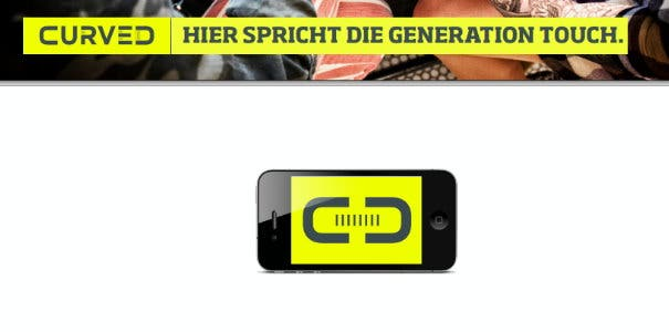 "Curved.de ist gestartet – Content-Marketing fuer die ""Generation Touch"""