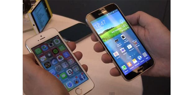 Samsung-Galaxy-S5-vs-Apple-iPhone-5S-Titel