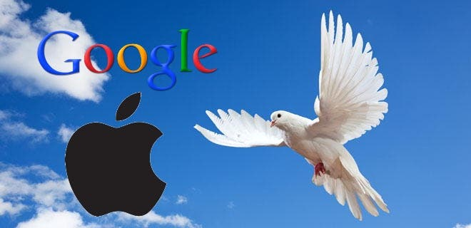Google Apple Frieden