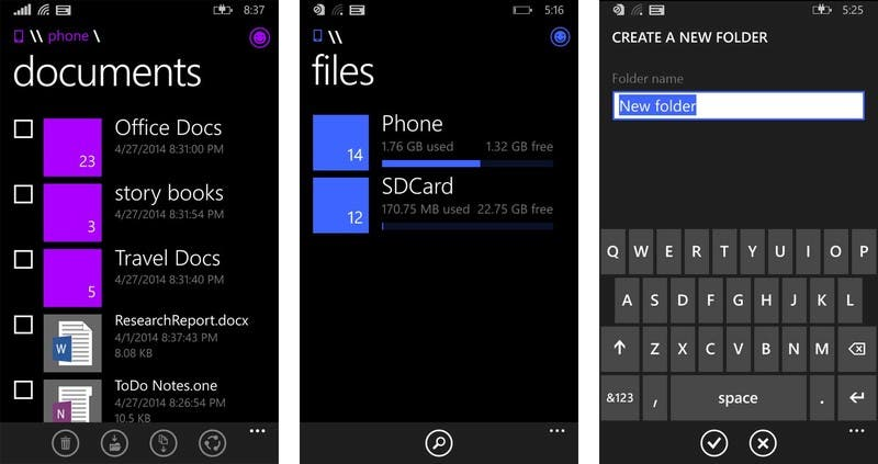 Windows-Phone-File-manager-Screenshots
