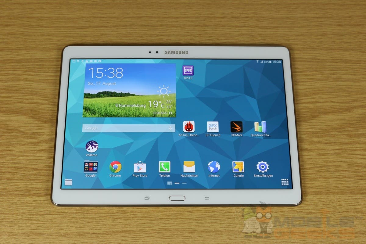 samsung galaxy tab s 10 5 im test. Black Bedroom Furniture Sets. Home Design Ideas