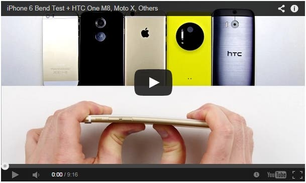bentgate iPhone 6 One M8 Moto X Lumia 1020