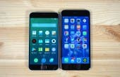 Meizu MX4 Pro iPhone 6 Plus vorne