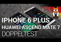 Doppeltest iPhone 6 Plus Huawei Ascend Mate 7