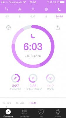 Alcatel One Touch Watch - Move App - Schlaf
