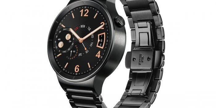 Huawei Watch Black Stainless Steel with Black Stainless Steel Link Band 01