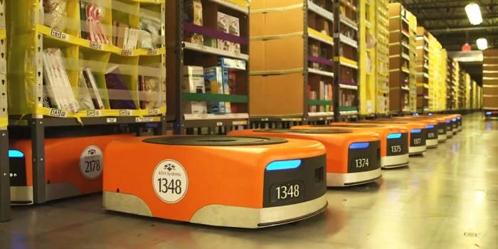 Roboter Amazon Verpackungscenter