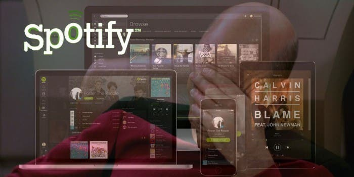 Spotify Devices und Picard-Facepalm
