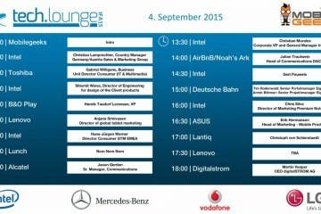 IFA 2015 Timetable - Tag 1d