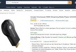 Chromecast Amazon