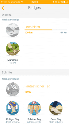Withings Health Mate : Badges