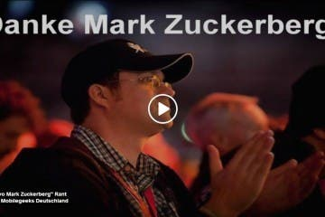 Danke Mark Zuckerberg