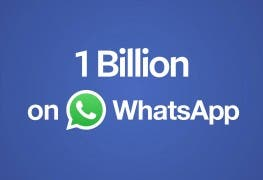 Whatsapp 1 Billion