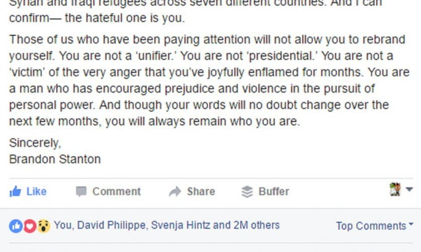 -3  An Open Letter to Donald Trump  Mr. Trump  I...   Humans of New York