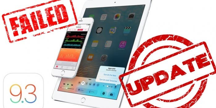 Apple iOS 93 Update Problem