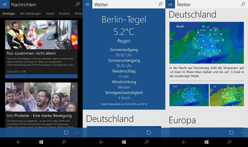 Taegliche Schau Windows 10 App