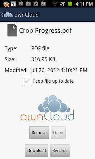 ownCloud Adroid App