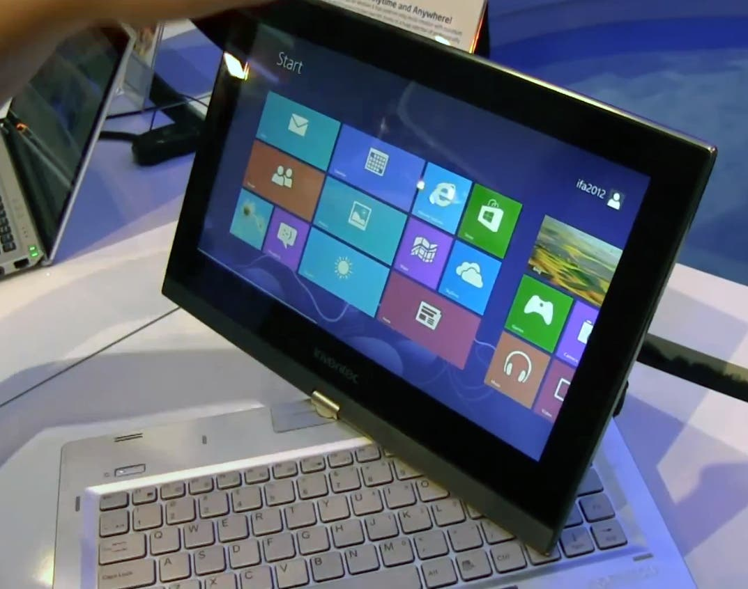 Inventec 12,5 Zoll Convertible Ultrabook mit Windows 8 im Hands-on auf der IFA 2012