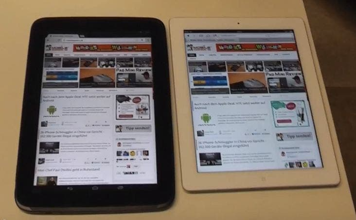 Nexus 10 vs Apple iPad 4