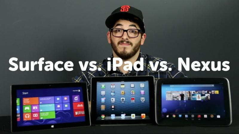 ipad vs nexus vs surface