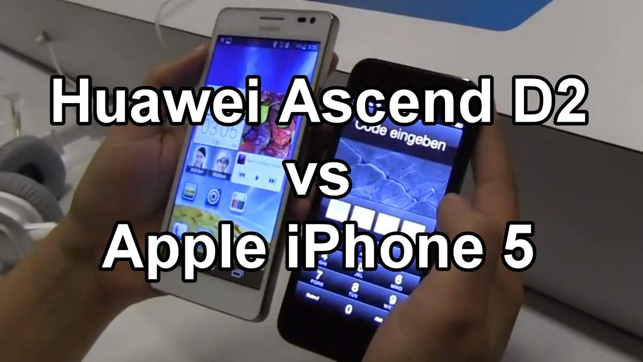 Huawei Ascend D2 vs iPhone 5