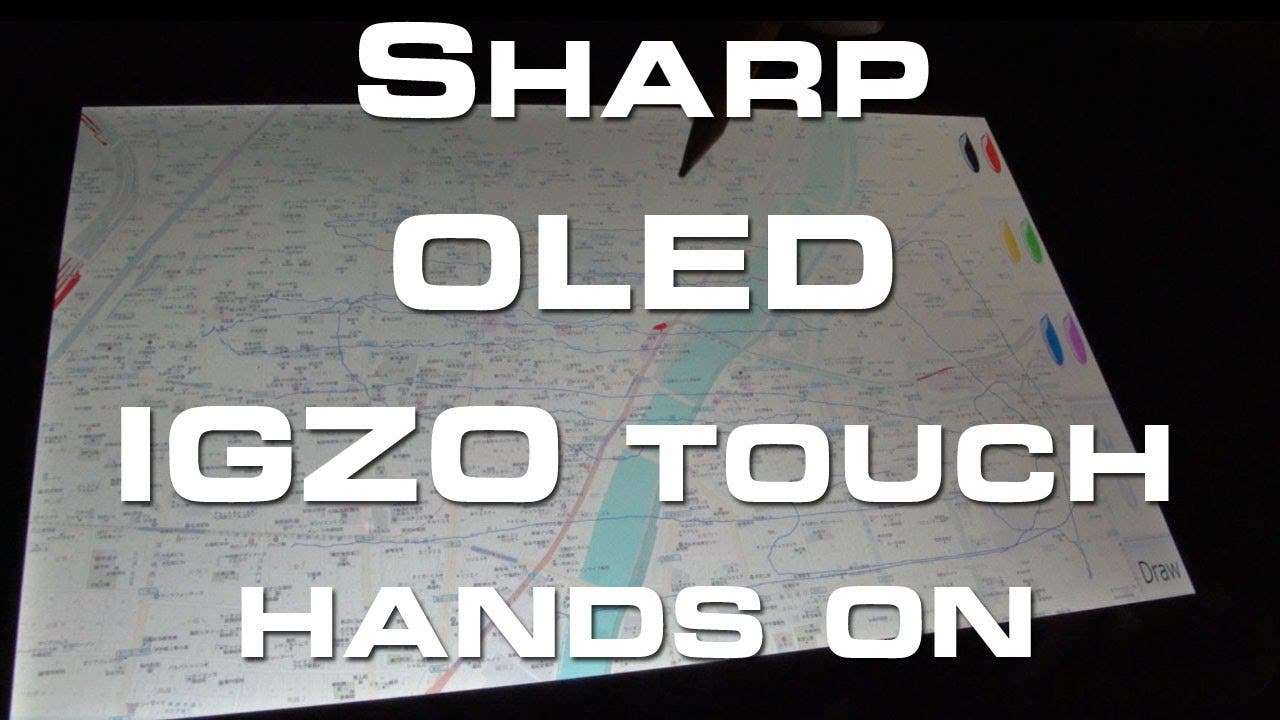 Sharp OLED IGZO Touch Display Hands On - CES 2013