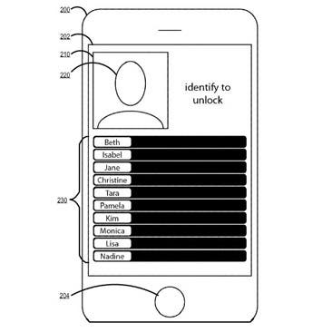 Apple Patent Image Unlock