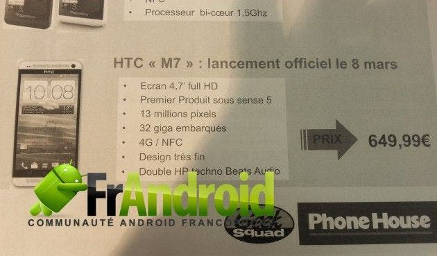HTC M7 Phone House